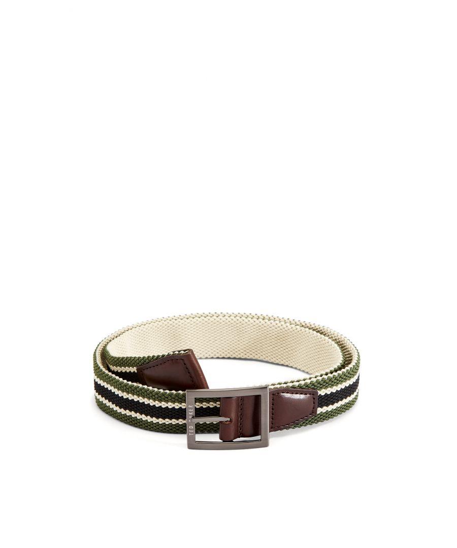 Image for Ted Baker Greep Reversible Elastic Belt, Olive