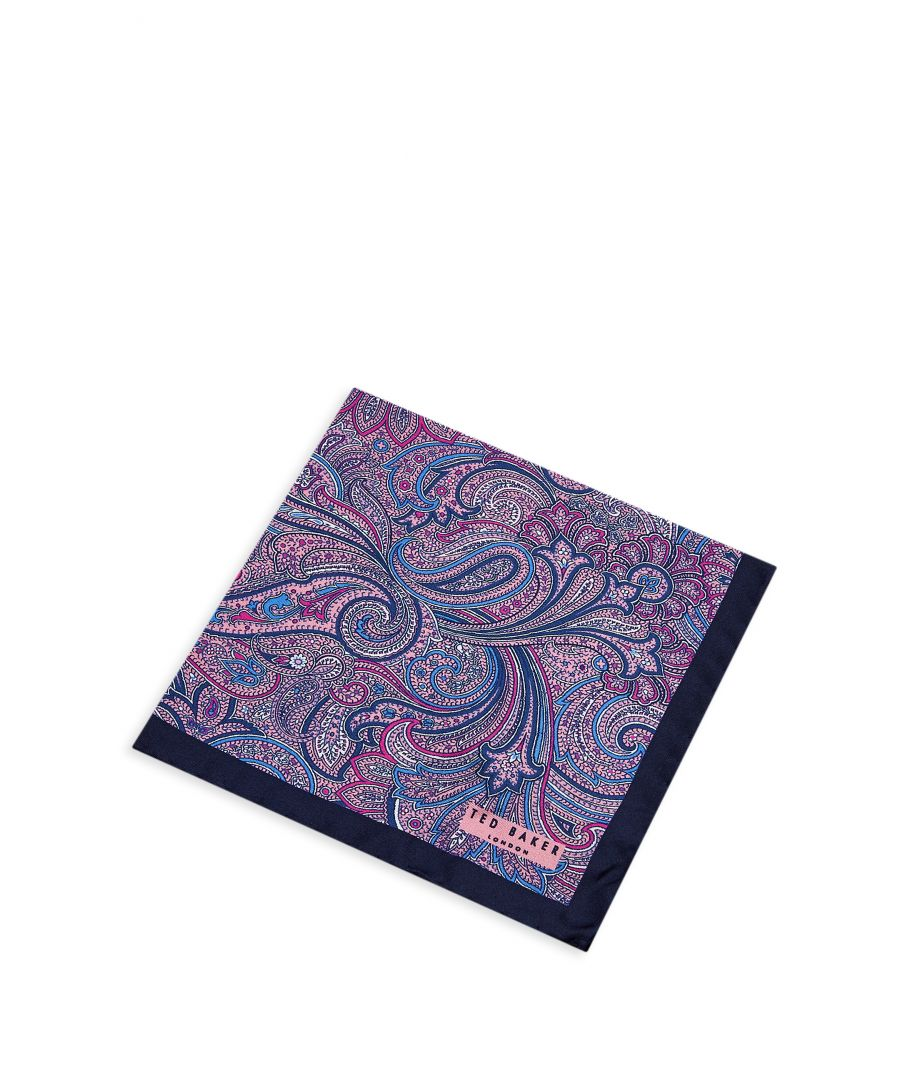 Image for Ted Baker Sagloo Paisley And Lily Pocket Square, Pink