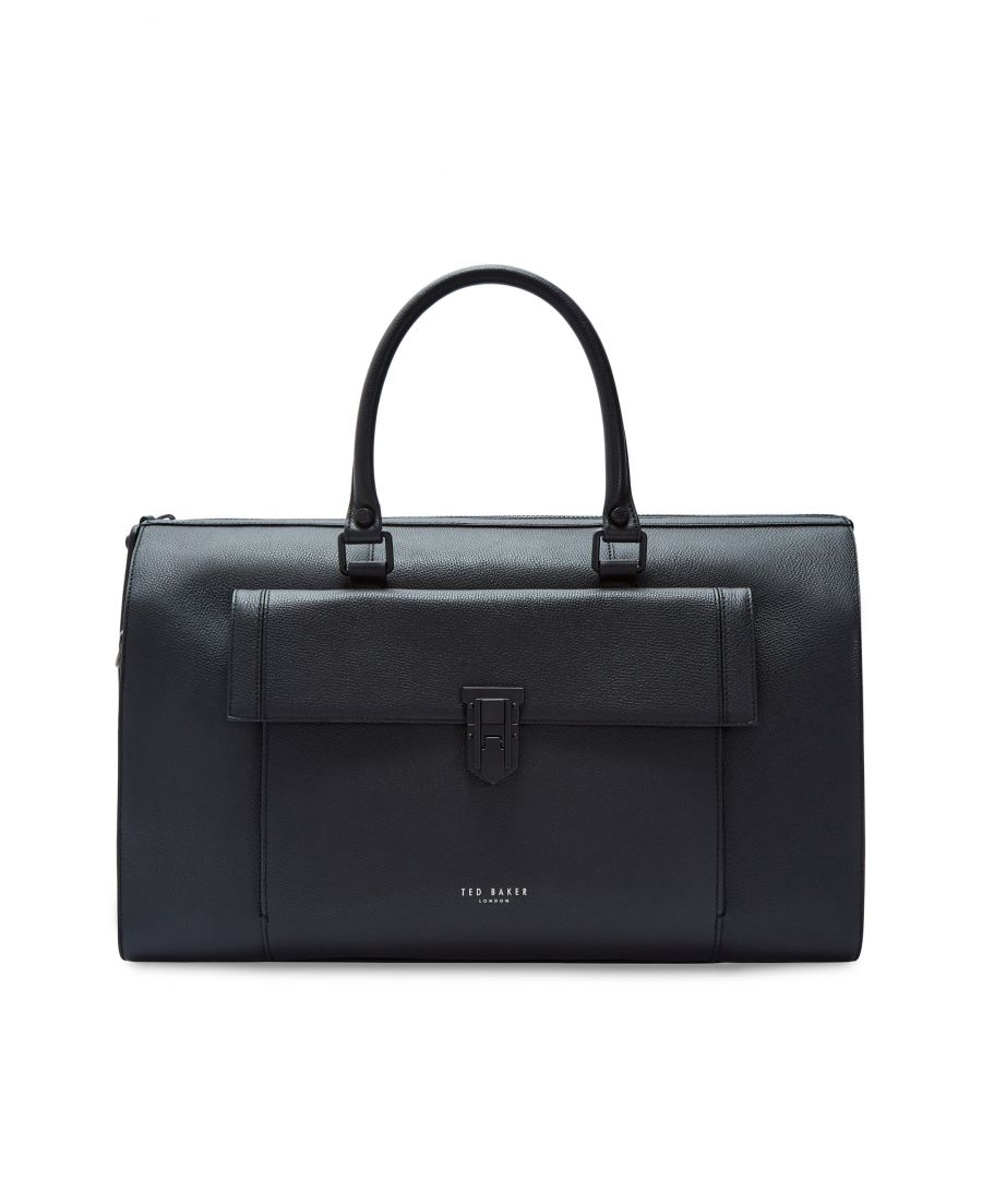 Image for Ted Baker Starmo Coloured Leather Holdall, Black