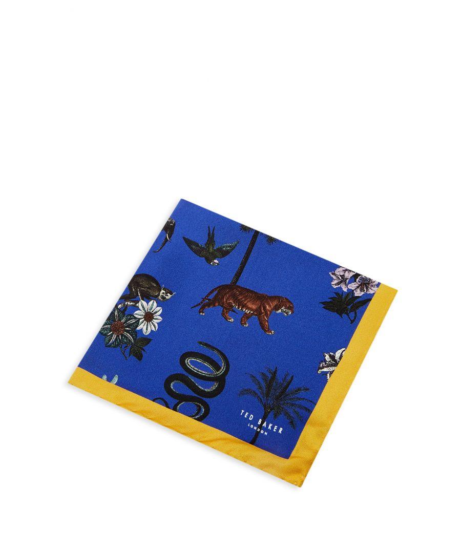 Image for Ted Baker Whitsun Animal Pocket Square, Mid Blue