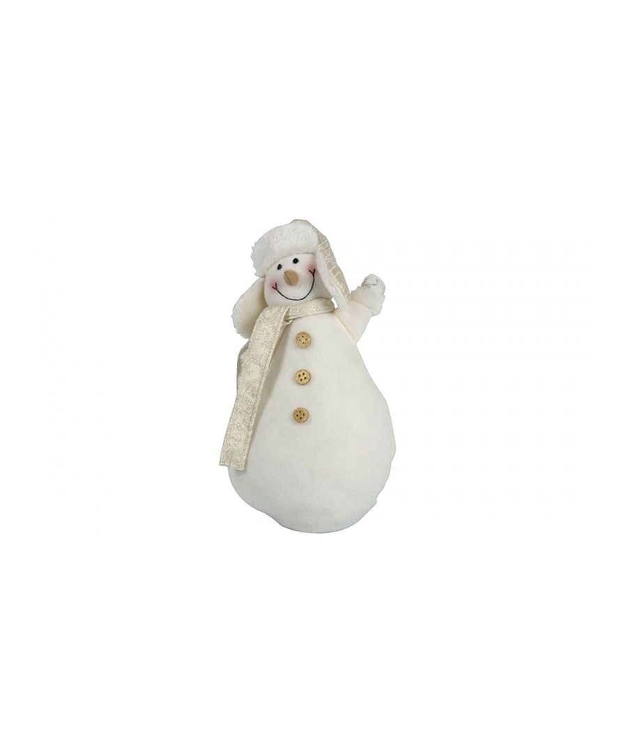 Image for Christmas Snowman Gold Large 33cm