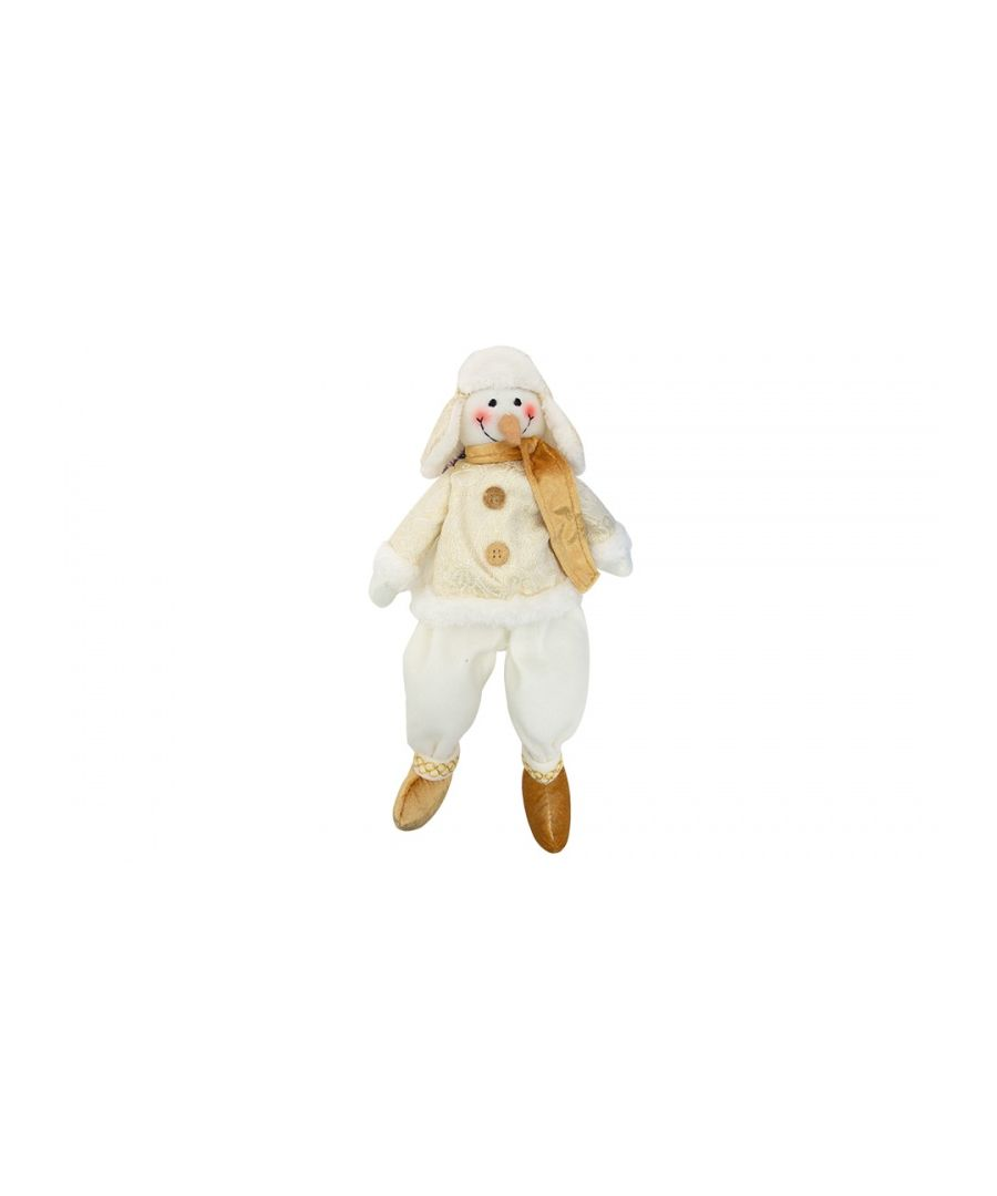 Image for Christmas Snowman Gold Medium 27cm