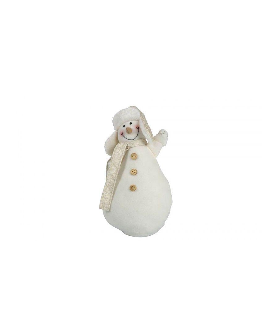 Image for Christmas Snowman Gold Medium 28cm