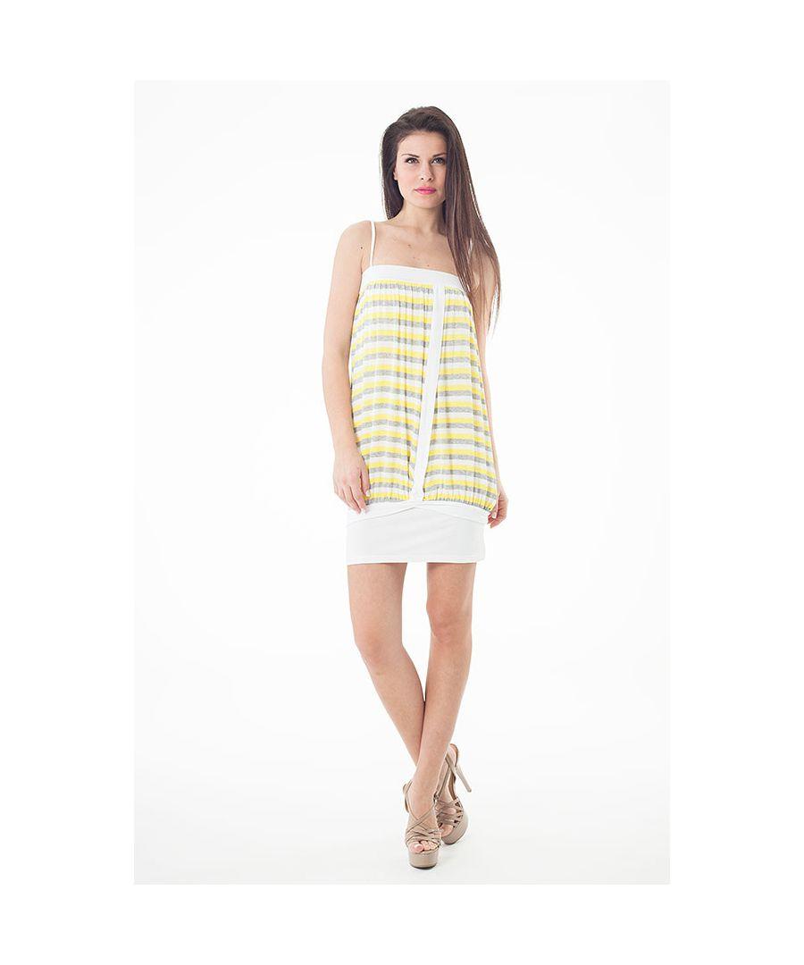 Image for Striped Stretch Fabric Mini Dress