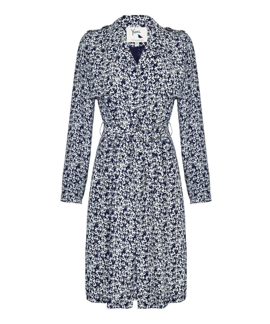 Image for FLORAL TRENCH COAT