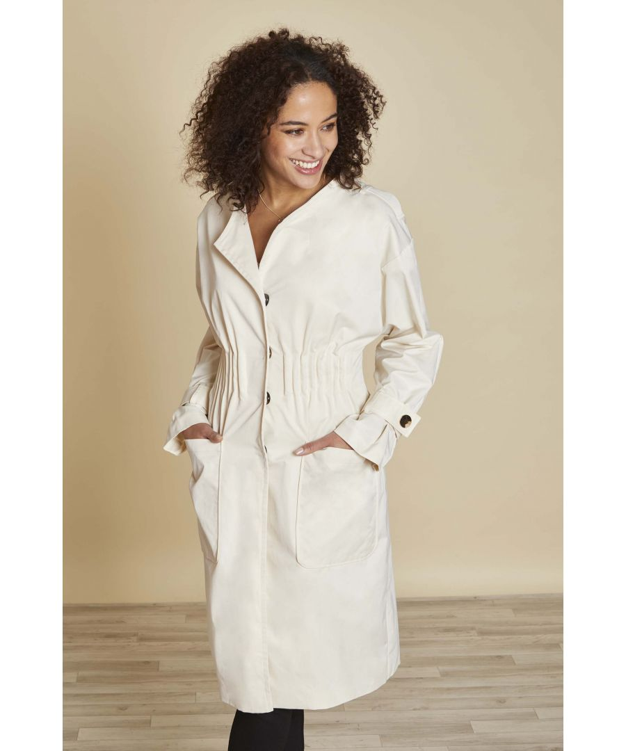 Image for TRENCH COAT WITH ELASTIC WAIST