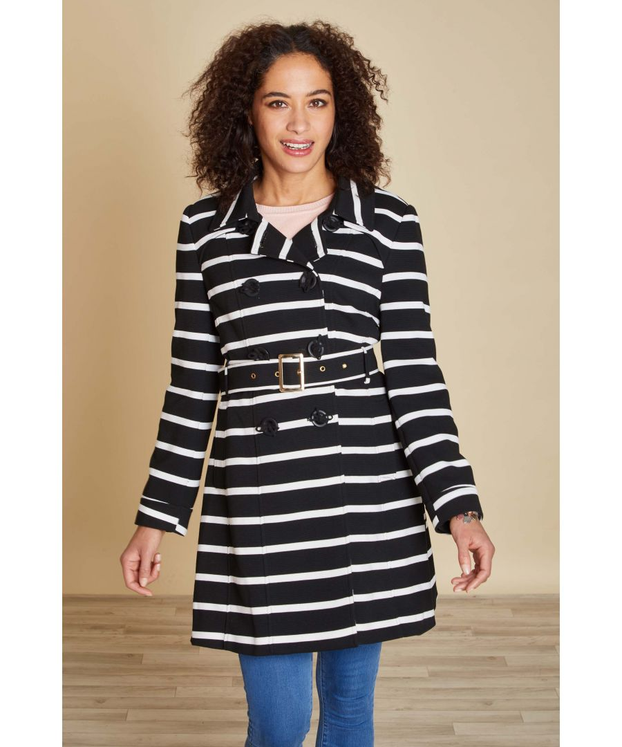 Image for STRIPE TRENCH COAT