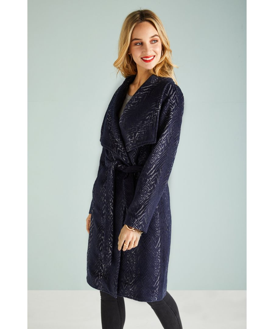 Image for WATERFALL WRAP COAT