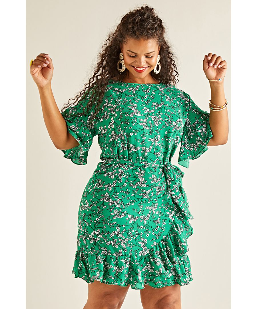 Image for Ditsy Flower Frill Dress