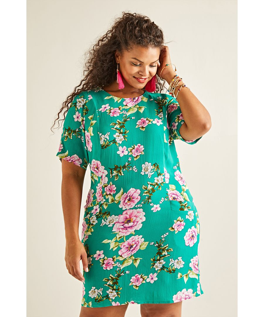 Image for Oriental Blossom Tunic Dress With Pocket