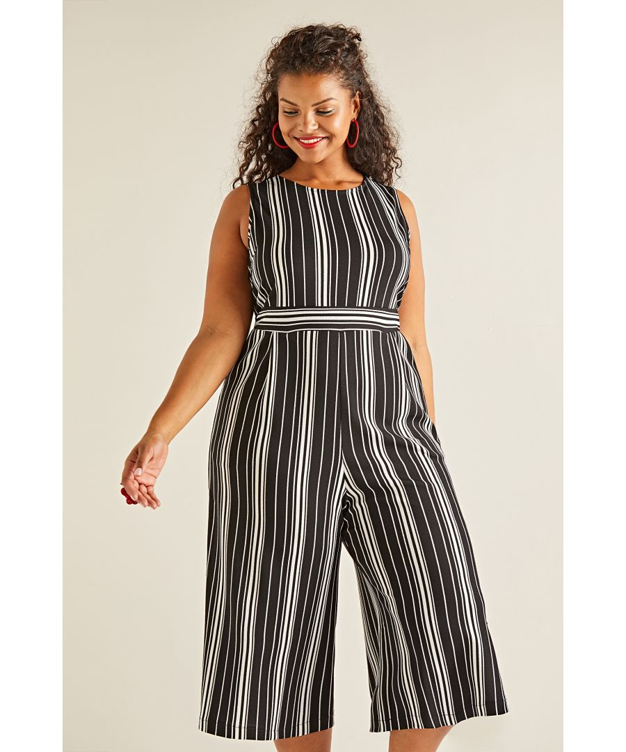 Image for Stretch Stripe Jumpsuit
