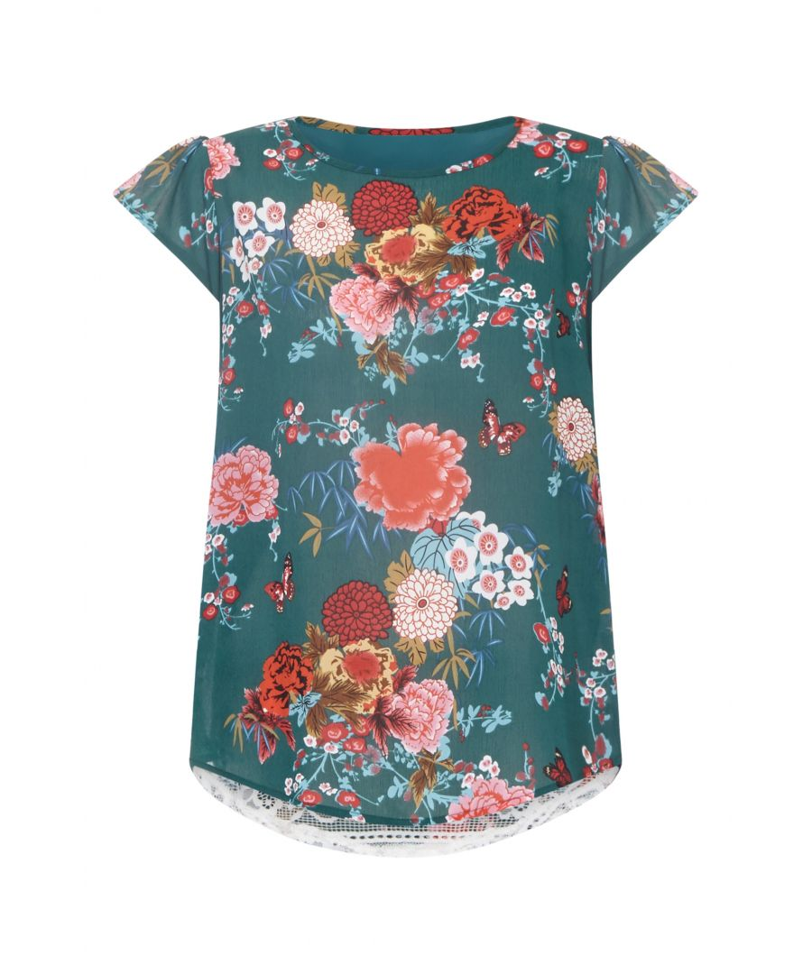 Image for Butterfly Top With Lace Back Detail