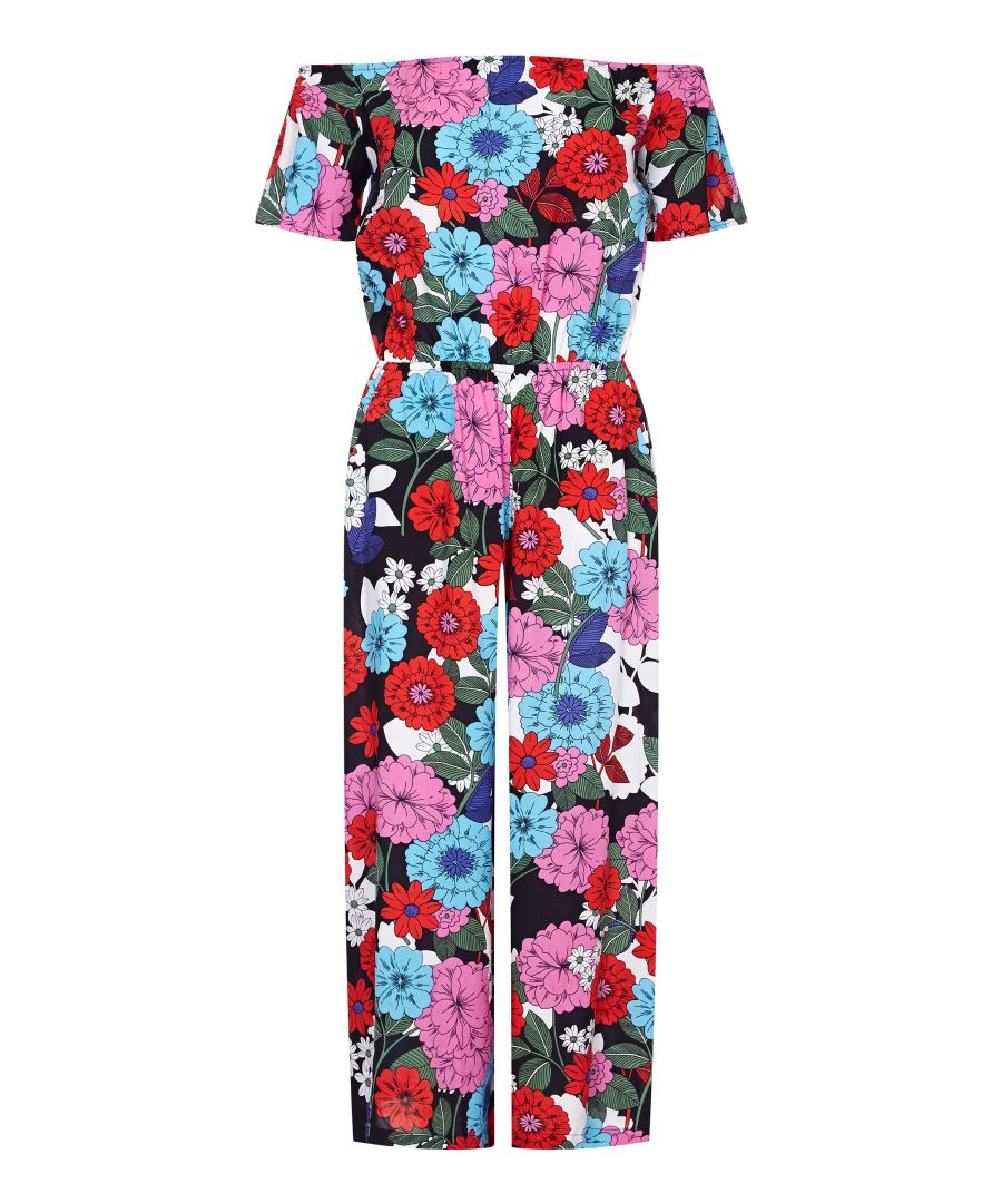 Image for Sixties Flower Jumpsuit