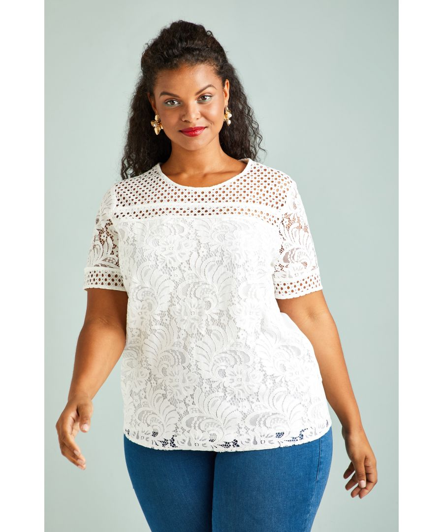 Image for Lace Detail Top