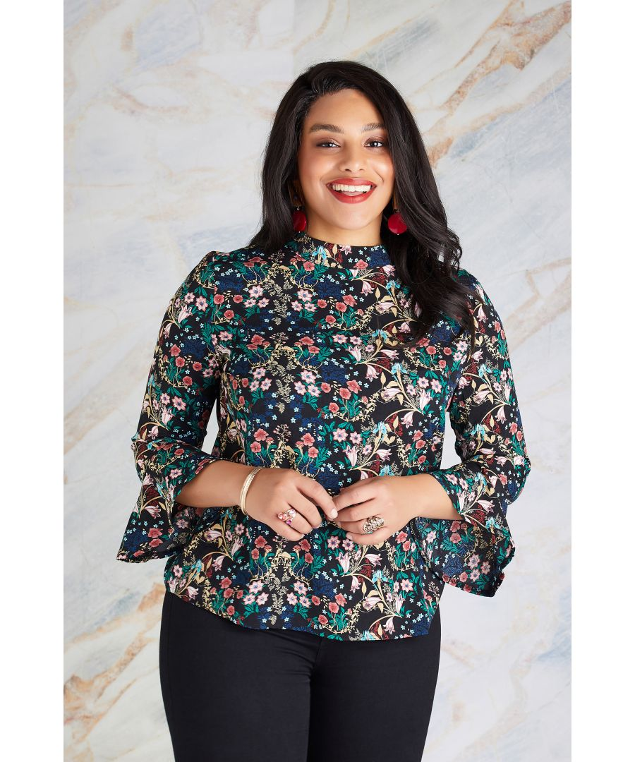 Image for Indian Chintz Floral Top