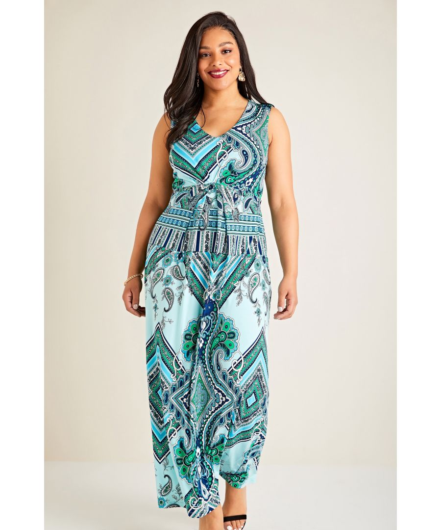 Image for Paisley Scarf Print Maxi Dress