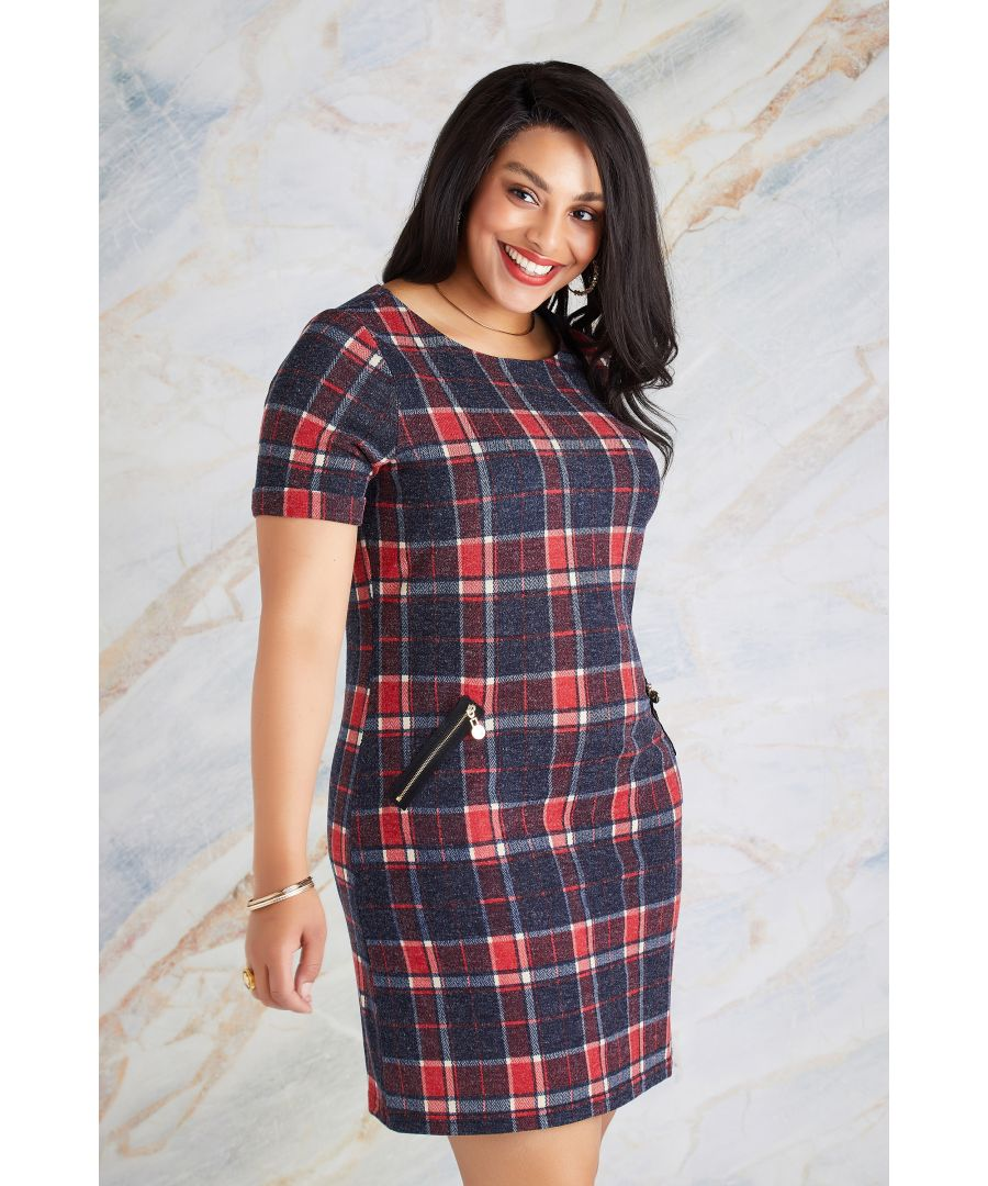 Image for Zip Pocket Check Tunic