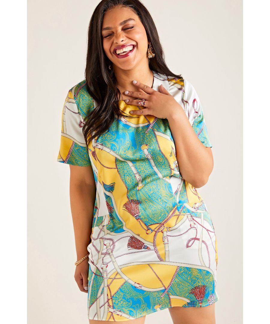 Image for Multi Plus Size Chain Print Tunic Dress