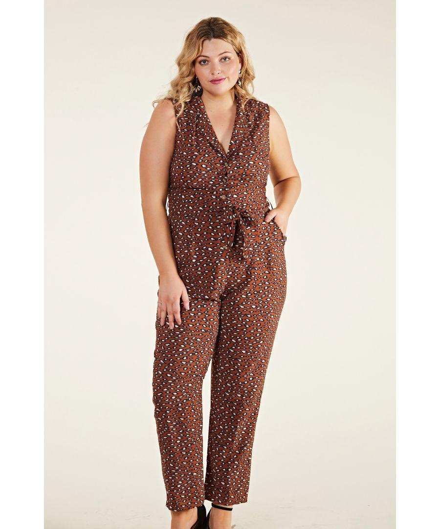 Image for Animal Blotch Print Jumpsuit