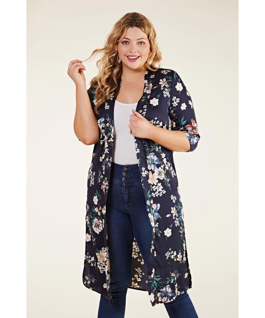 Image for Floral Print Long Kimono