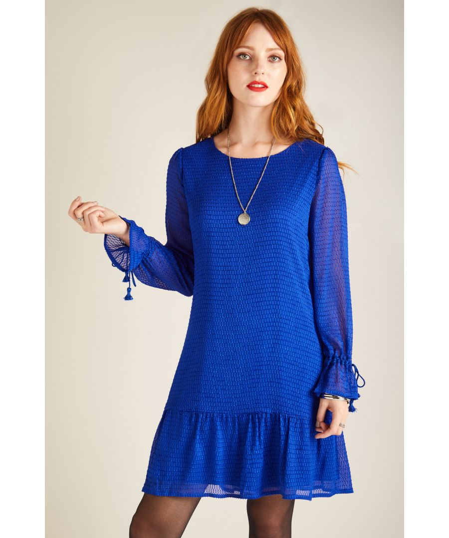Image for FLARE SLEEVE DOBBY DRESS