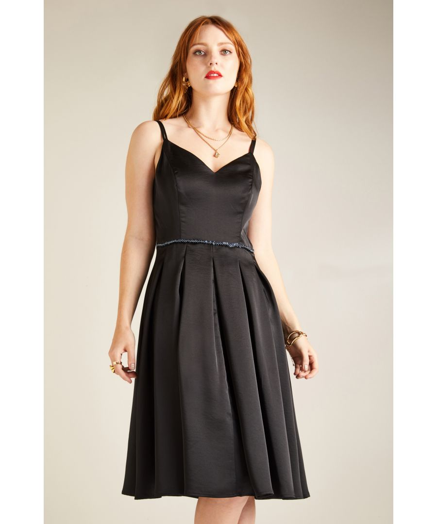 Image for HAMMERED SATIN PARTY DRESS