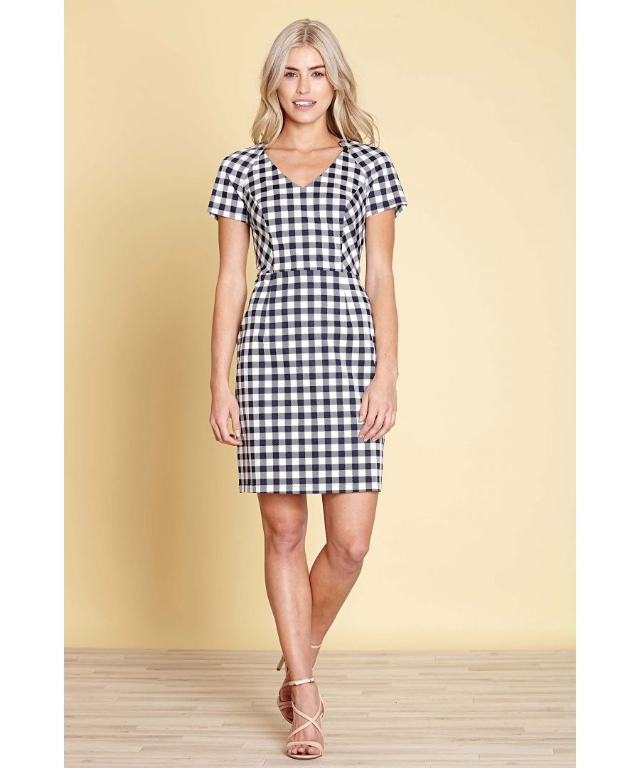 Image for STRETCH GINGHAM  DRESS