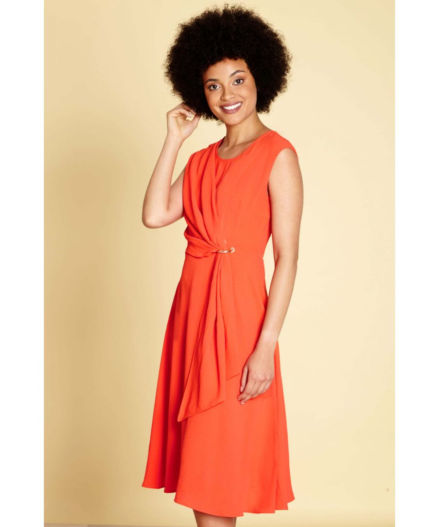 Image for SOFT DRAPE EYELET DRESS
