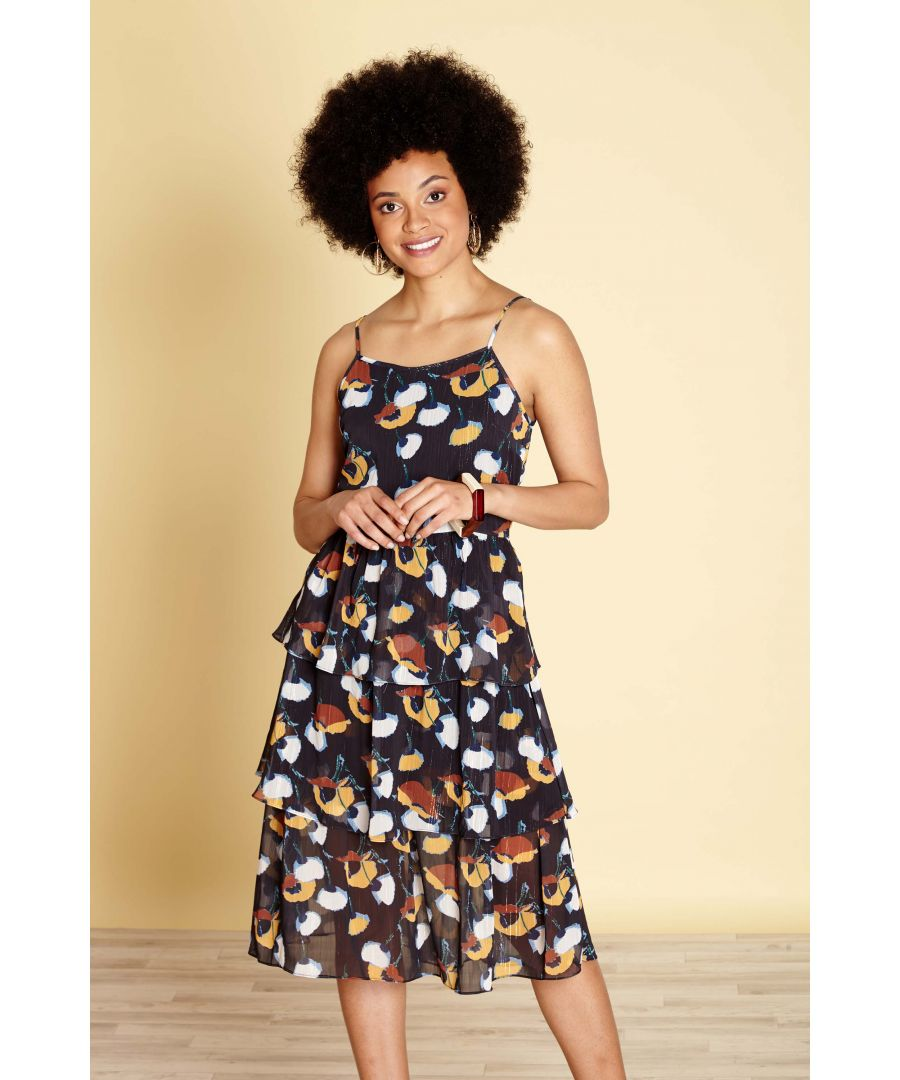 Image for LAYERED FRILL DRESS