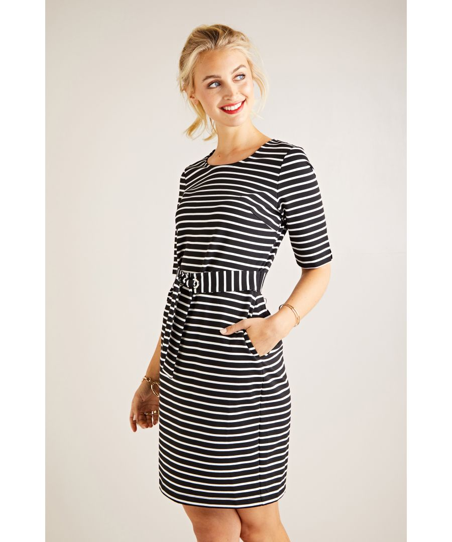 Image for Ponte Stripe Dress