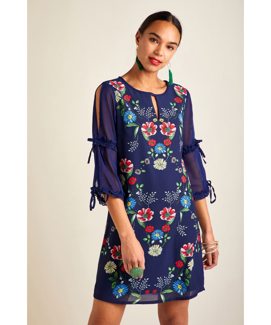 Image for Sketchy Floral Placement Tunic