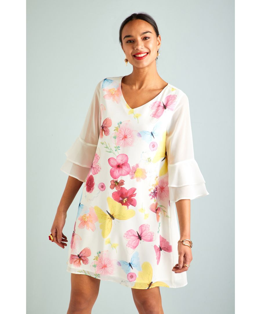 Image for Pressed Butterfly Print Tunic