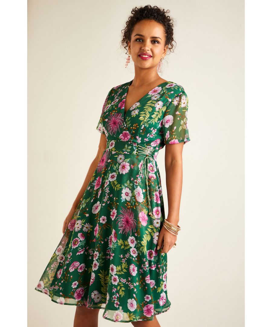Image for Floral Tie Dress