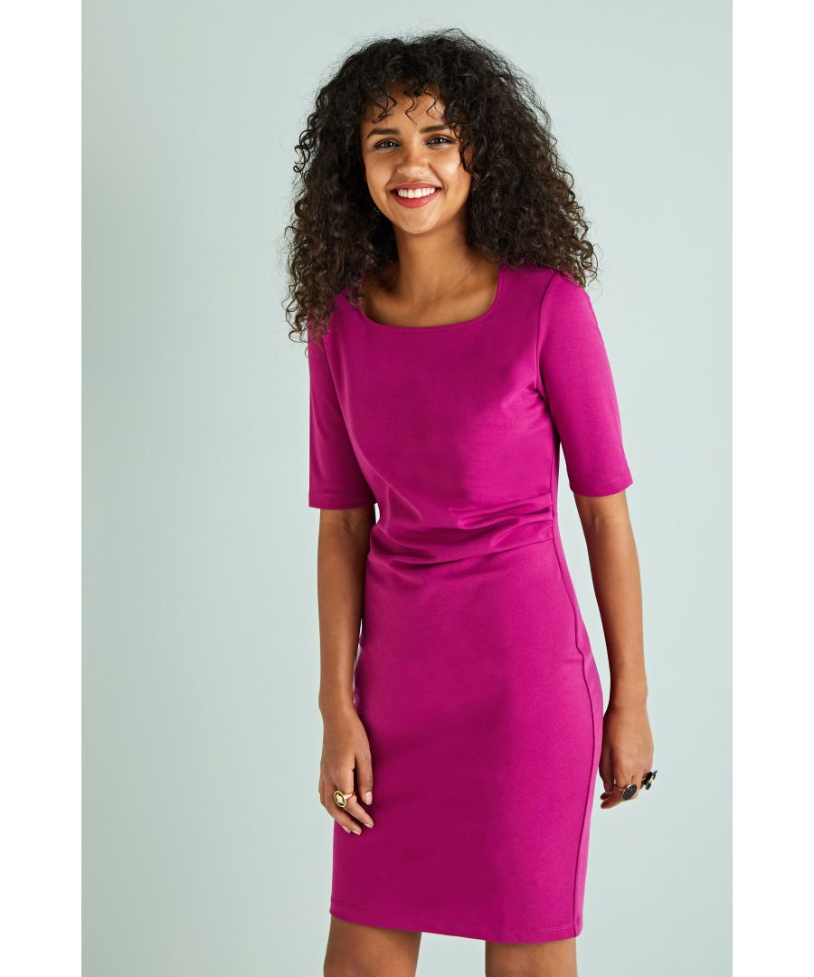 Image for Tuck Detail Ponte Dress