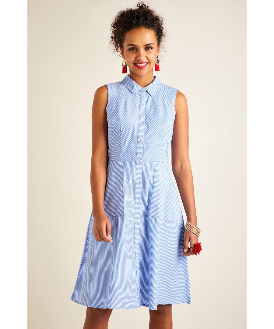 Image for Stripe Shirt Dress