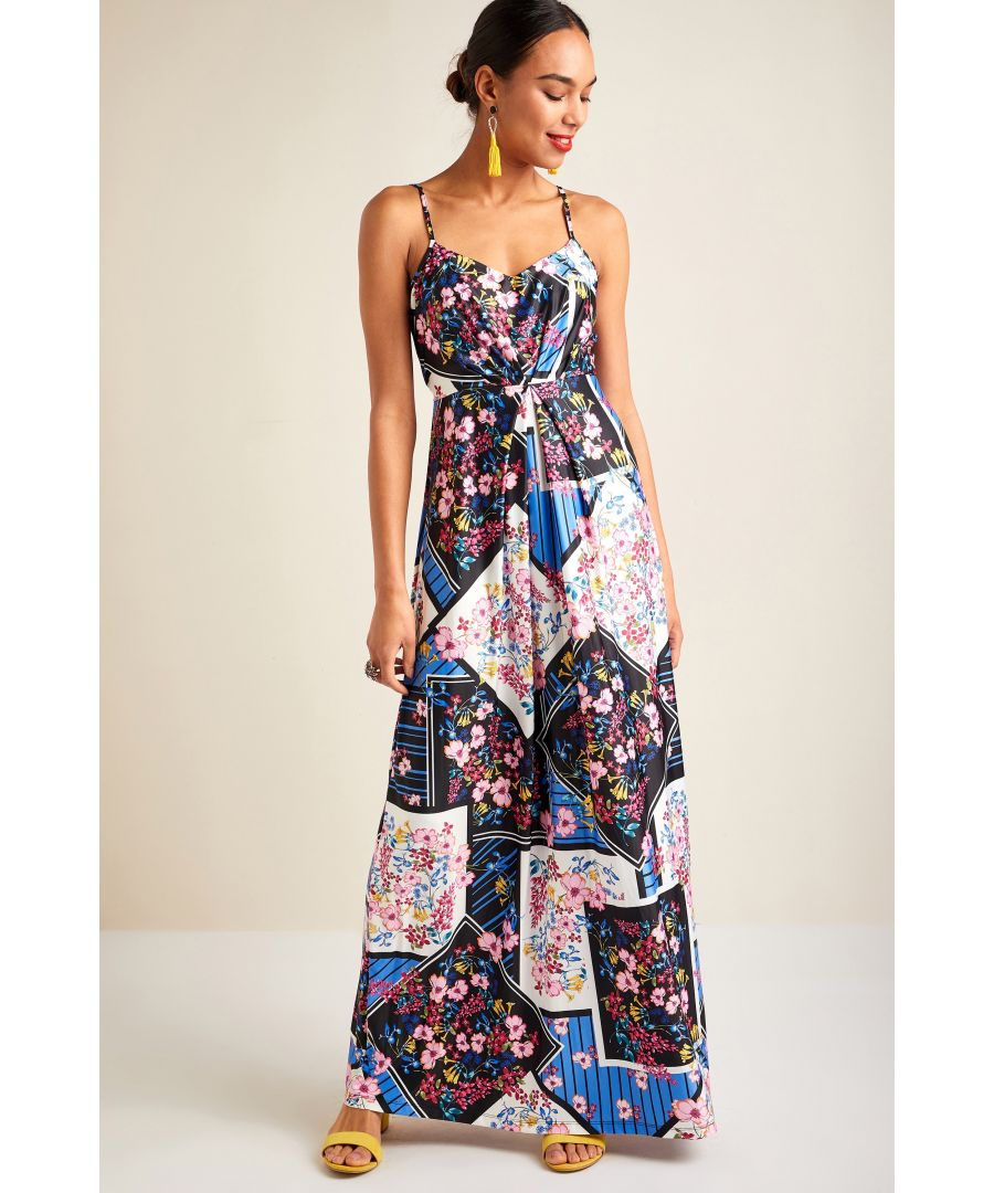 Image for Floral Scarf Print Dress