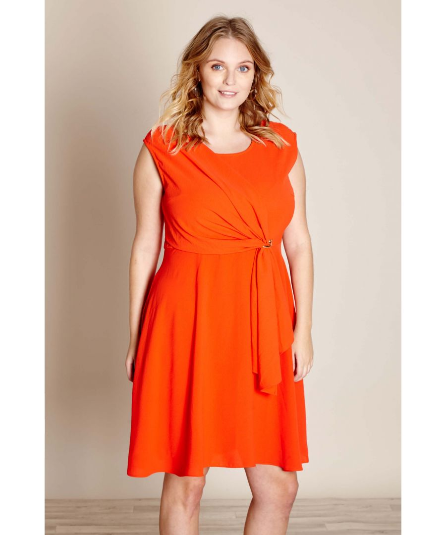 Image for SOFT DRAPE EYLET DRESS