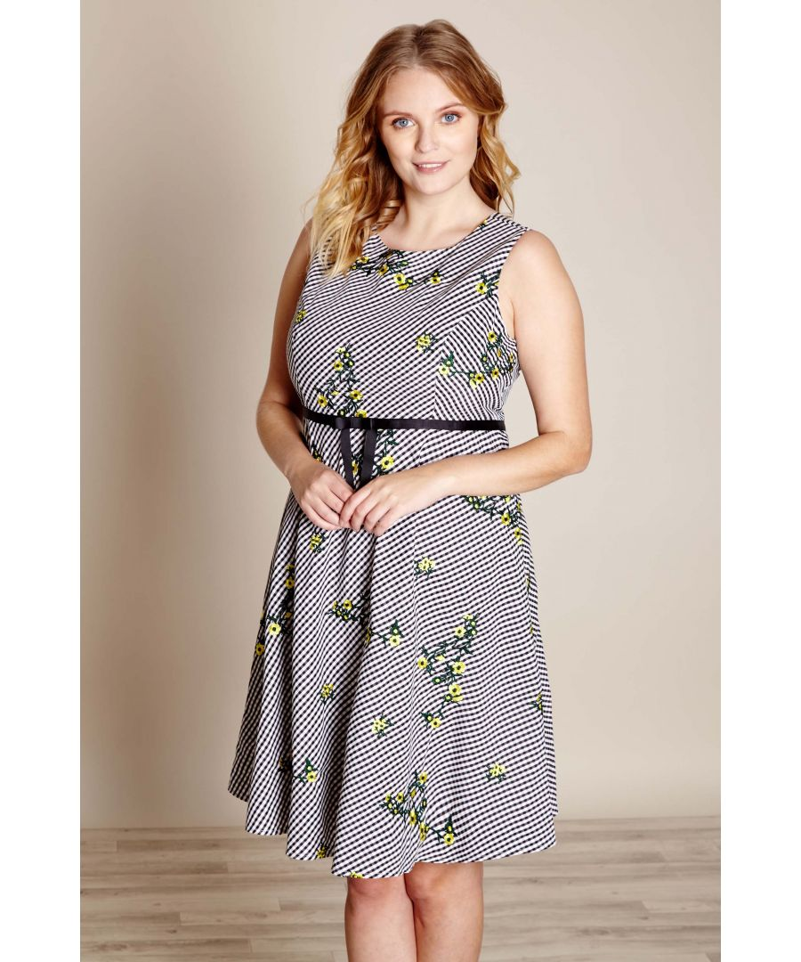Image for EMBROIDERED GINGHAM DRESS
