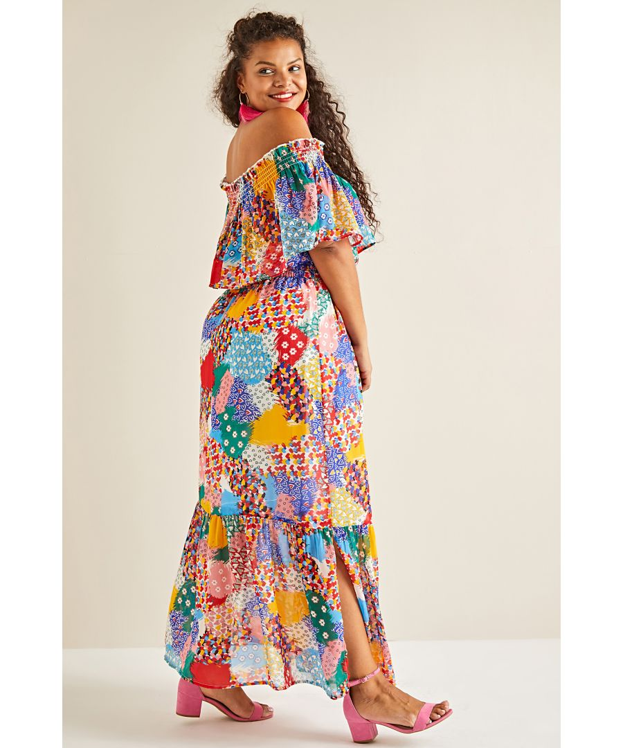 Image for Patchwork Heart Maxi Dress