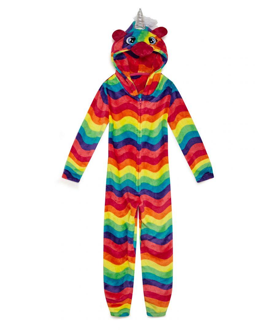 Image for Yumi Girls Girls Bright  Rainbow Unicorn Onesie