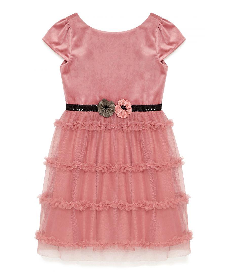 Image for Velvet Ruffle Prom Dress