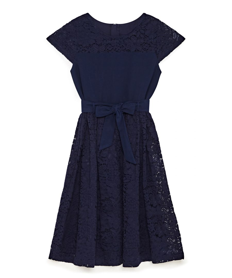Image for Lace Bow Tie Party Dress