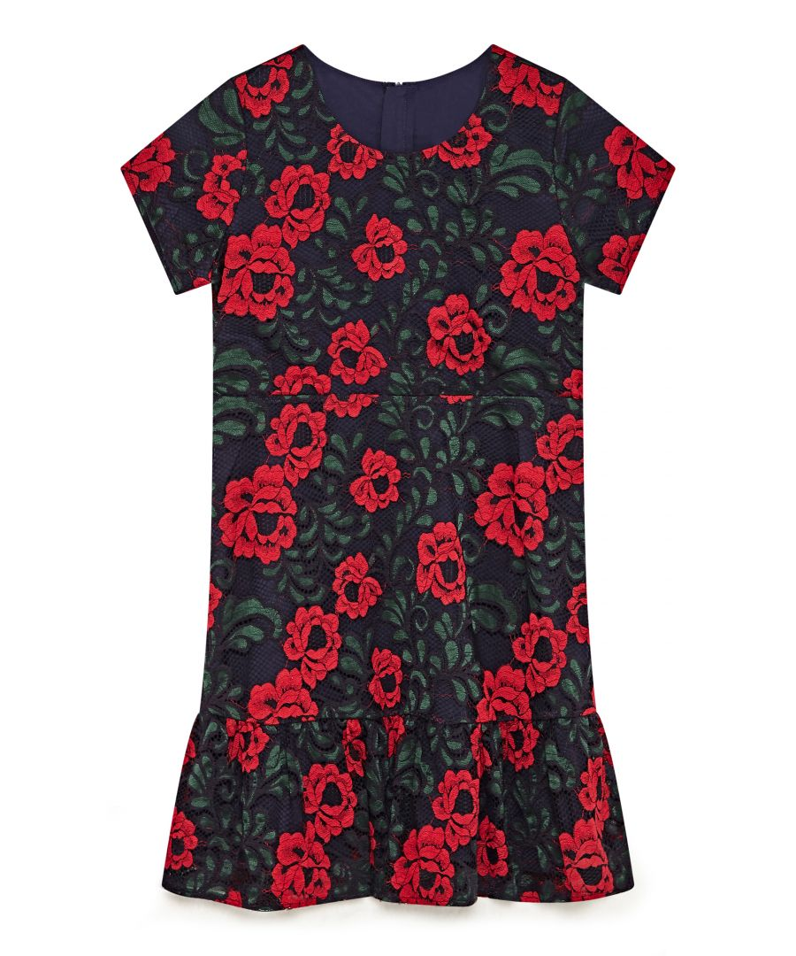 Image for Rose Multicolour Lace Dress