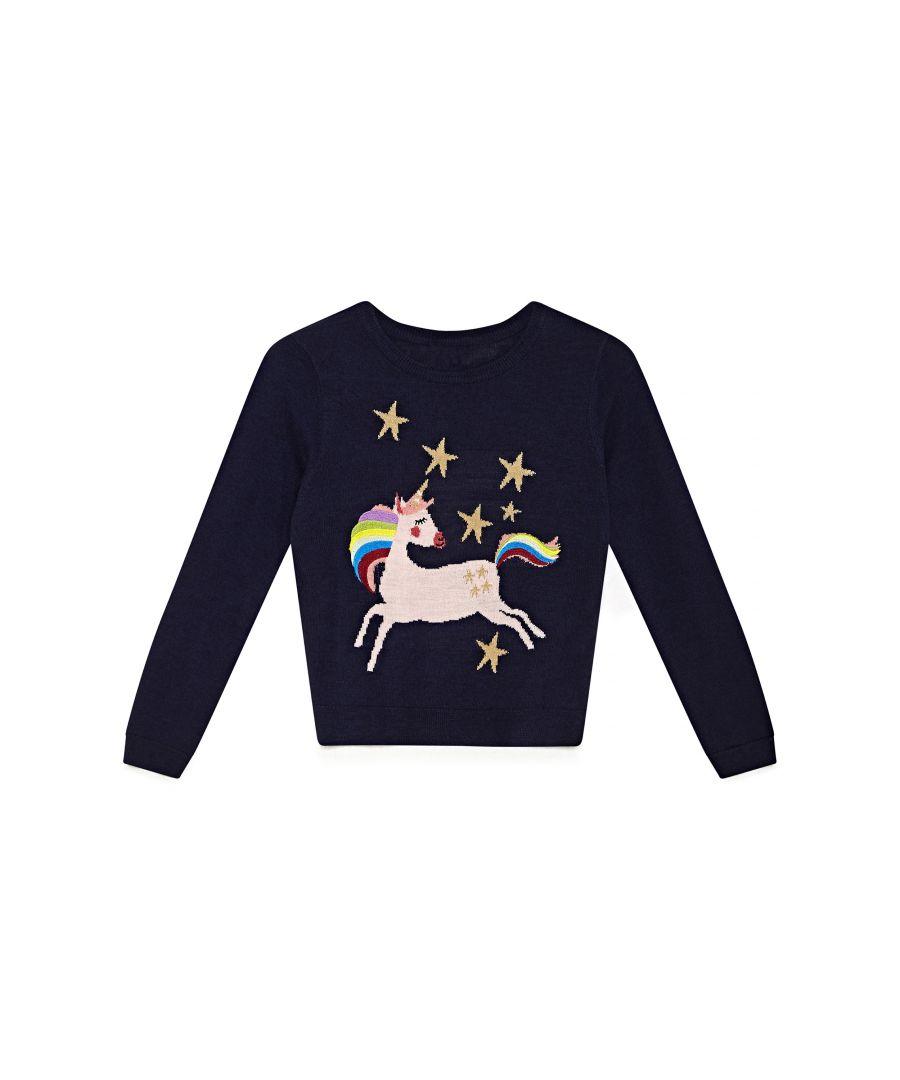 Image for Rainbow Unicorn Jumper