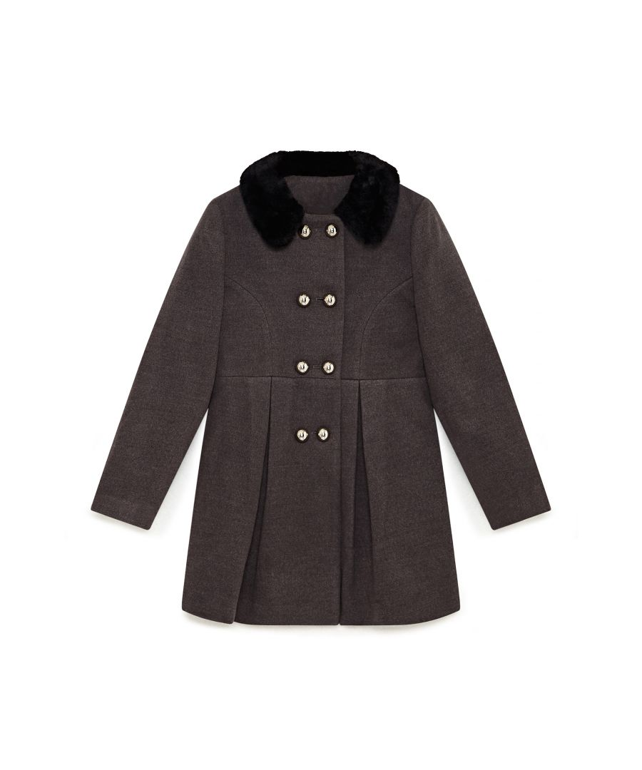 Image for Fur Collar Double Breasted Coat