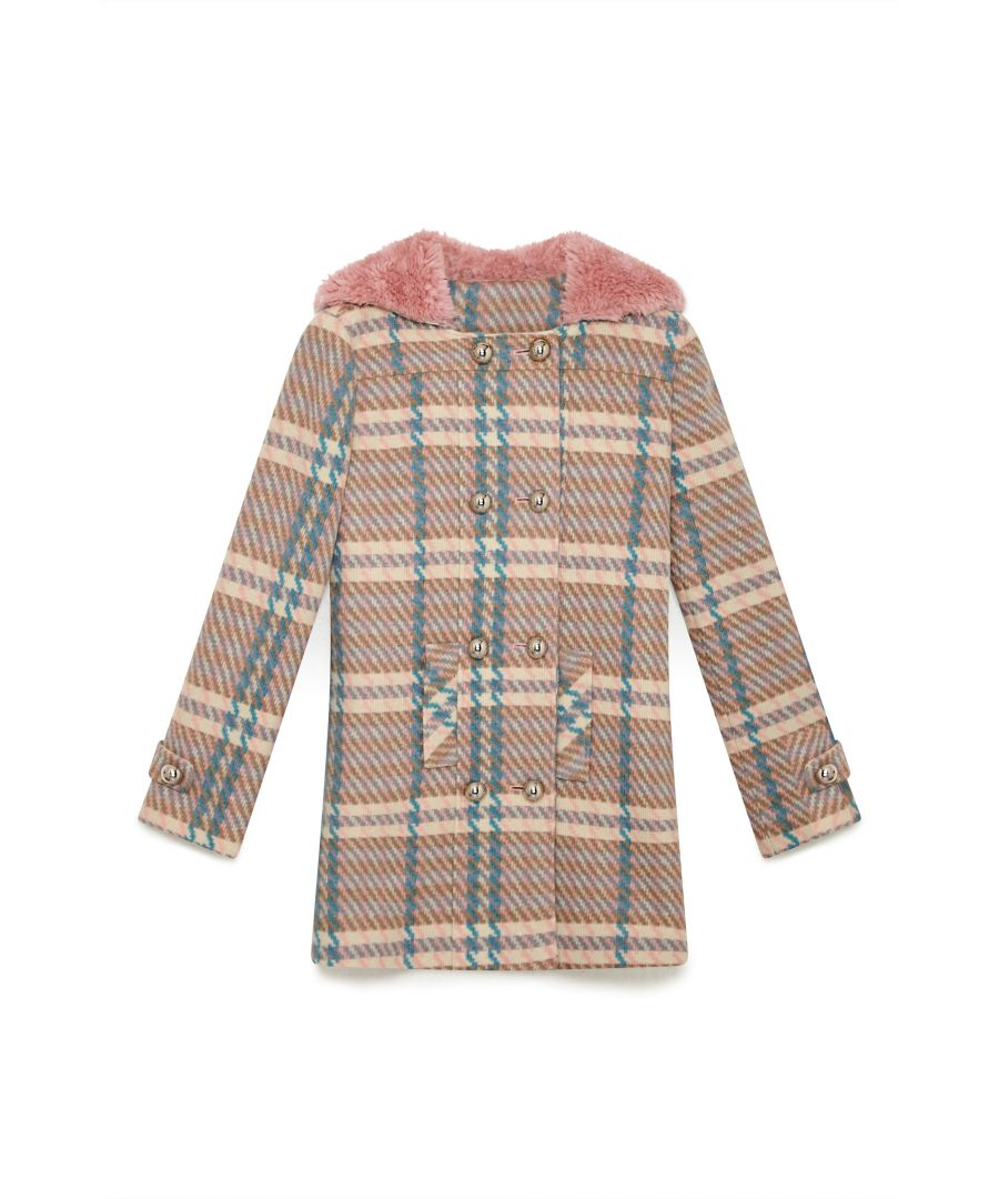Image for Pastel Check Duffle Coat