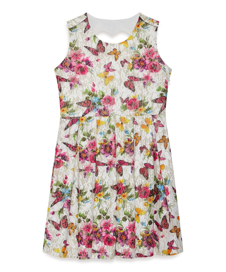 Image for Butterfly Printed Lace Dress
