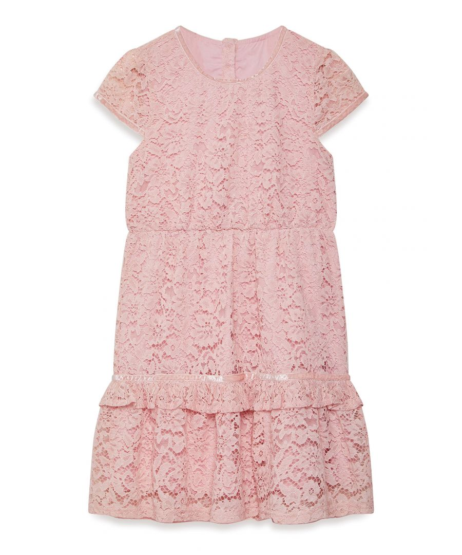 Image for Lace Dress With Peplum Frill Hem