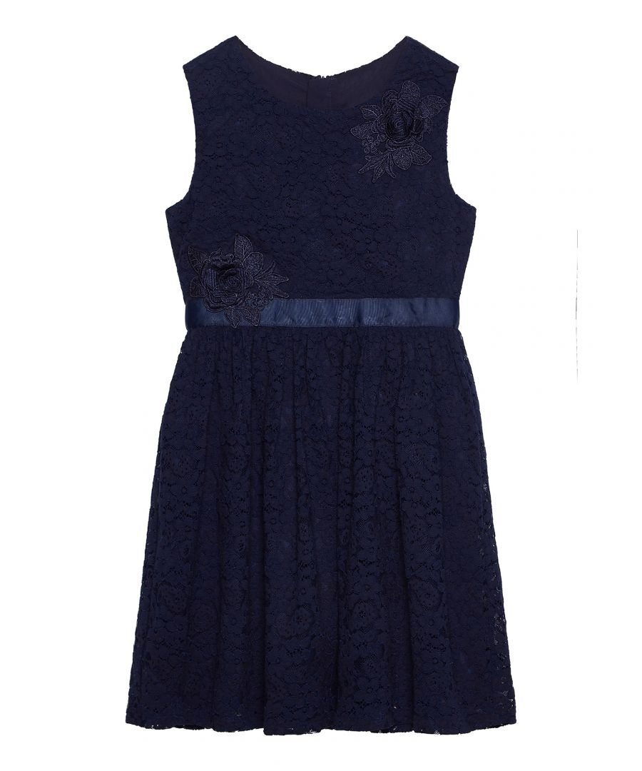 Image for Lace Flower Corsage Dress