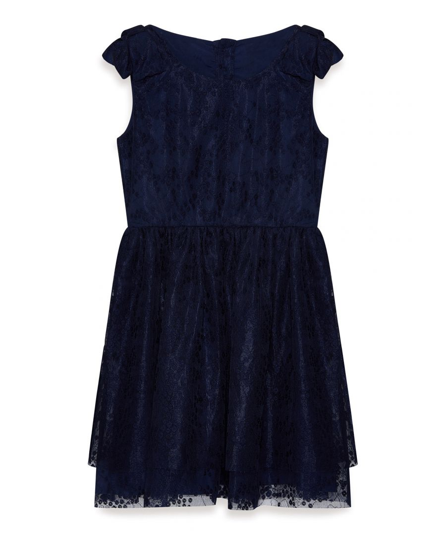 Image for Shoulder Bow Lace Dress